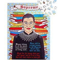 Supreme Ruth Bader Ginsburg 500 Piece Jigsaw Puzzle