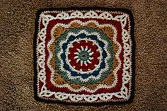 """Ravelry: Pizzazz - 12"""" Square pattern by Melinda Miller... Free pattern!"""