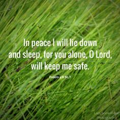 Psalm 4:8 NLT #typography @ladysnowangel