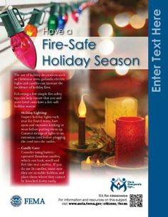 Holiday and Christmas tree fire safety outreach materials-USFA