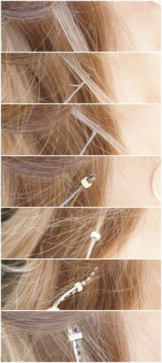 DIY feather extensions how-to - beautyill