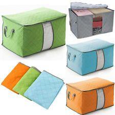 Folding Bamboo Charcoal Blankets Sweater Large Storage Organizer Bag Box Case