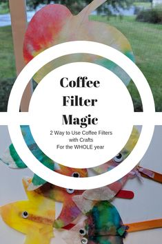 Coffee filters are a fantastic budget-friendly craft supply for all ages. Using these two unique simple methods create some beautiful crafts with your children. Preschoolers and toddlers will love how independent and creative they can be. Activities For 1 Year Olds, Educational Activities For Kids, Activities To Do, Kids Learning, Craft Projects For Adults, Projects To Try, Crafts To Do, Crafts For Kids, Fall Crafts