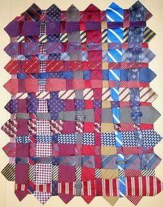 Good use of ties! #sewing, #ties, #wallhanging, #repurposing,