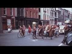 Wonderful Color Photographs That Capture Street Scenes of Dublin in 1961 ~ vintage everyday Cycle Chic, Dublin City, Romantic Photos, Dublin Ireland, Portrait Photo, Vintage Photographs, Old Photos, Irish, Street View