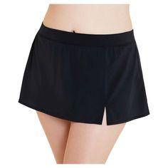 Women's Plus Size Swim Skirt Black 2