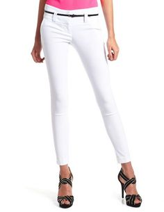 Belted Millennium Skinny Pant: Charlotte Russe WHO SAID NO WHITE BEFORE LABOR DAY ?