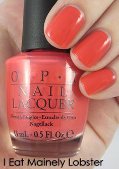 OPI: I Mainly Eat Lobster