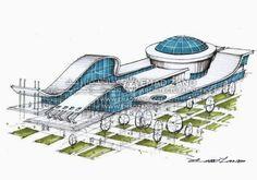 Architecture Concept Diagram, Architecture Sketchbook, Museum Architecture, Architecture Panel, Futuristic Architecture, Architecture Design, Ronda Rousey, Wwe Superstars, Airport Design