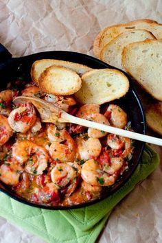 Cilantro Lime Shrimp recipe idea for dinner. Serve with a side salad.