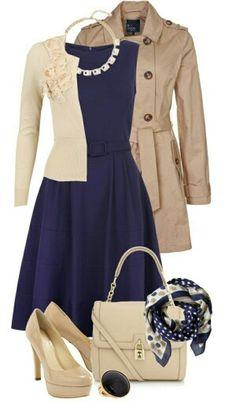 Outfit azul marino
