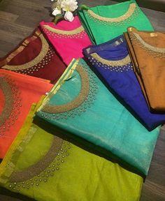 Kurtha Designs, Chudi Neck Designs, Dress Neck Designs, Churidar Neck Designs, Salwar Designs, Hand Work Design, Kurti Patterns, Rest, Hand Embroidery Designs
