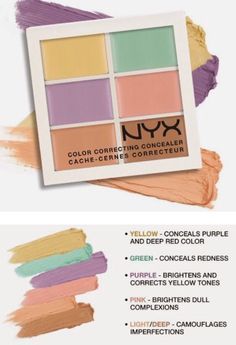 Nyx color correcting concealer palette (@ Ulta) I always mention this product to people and they look at me like Im crazy. It really works!!! - makeup products - http://amzn.to/2hcyKic