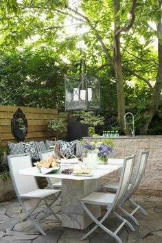 Tree Covered Outdoor Dining Room