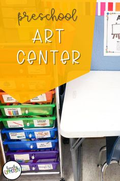 The Art Center in a preschool classroom is a place for children to explore different art materials, express themselves through creativity and use fine motor skills. See what is inside my Art Center. Art Center Preschool, Preschool Classroom, Preschool Art, Play Based Learning, Learning Centers, Classroom Organization, Organization Ideas, Center Labels, Eye Stickers