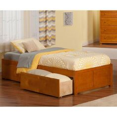 Atlantic Furniture Concord Twin XL Plarform Bed with Drawers