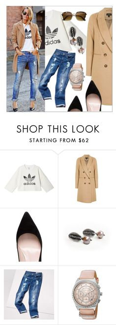 """""""Get that Look ❤"""" by apple-named-doris ❤ liked on Polyvore featuring adidas, Topshop, Kate Spade, Tommy Hilfiger, Michael Kors, ZeroUV, high, jeans and applenamedD"""