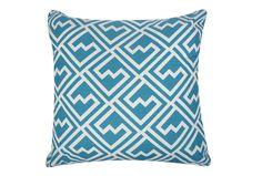 Accent Pillow-Geo Mod Blue 20X20-Living Spaces
