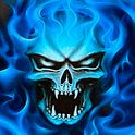 App name: Blue Skull Live Wallpaper. Price: 0.76€. Category: . Updated: January 3, 2012. Current Version: 1.1. Requires Android: 2.1 and up. Size: 0.65 MB. Content Rating: Everyone.  Installs: 10 - 50. Seller: . Description: blue fire SkullIn This Live Wa  llpaper Scary looking blue fir  e skull with flames and blinki  ng his eyes.Option to change w  allpaper frames per second  lip;  .