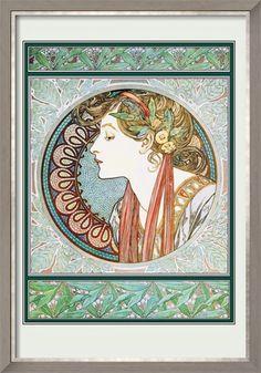 Woman's Profile Affiche encadrée
