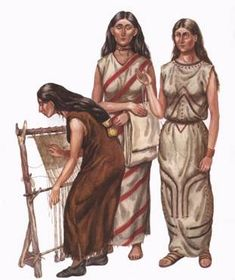 Women of the Tripolye culture in what we now call the Ukraine.