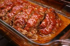 meatloaf Homemade Meatloaf, Easy Meatloaf, Italian Meatloaf, Healthy Meatloaf, Sauce For Meatloaf, Meatloaf With Bacon, Hamburger Recipes, Ground Beef Recipes, Meat Recipes