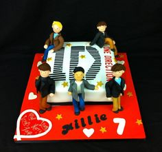 One Direction themed birthday cake