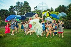 Sutton Bonnington from Ph Photography. Singing in the rain! Wedding photography.