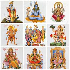 Divinità Indù Come: Lakshmi, Shiva, Krishna, Hanuman, Ganesha, Rama, Parvati Su antiche piastrelle in Ceramica
