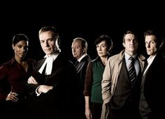 9l. to r.) Freema Agyeman, Ben Daniels, Bill Paterson, Dame Harriet Walter, the superb Bradley Walsh, and the equally fantastic Jamie Bamber on the far right, of my favorite Law and Order series.