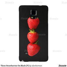 Three Strawberries On Black (V) Galaxy Note 4 Case