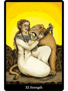 Strength - from the Anna k. Tarot. These cards are beautiful and full of…