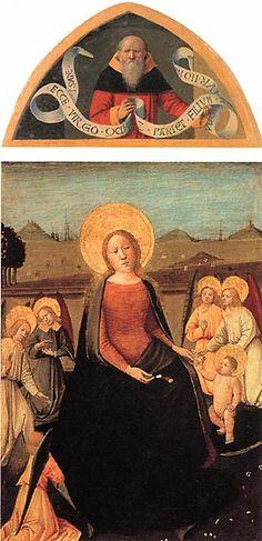 Enguerand Quarton, Retable d'Altenburg (ca. 1450, Staatliches Lindenau Museum, Altenburg; Musei Vaticani, Roma)