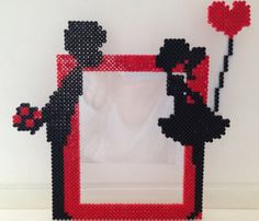 Love frame hama beads by Les-petites-creas-de-laura