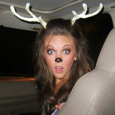 Dress as a deer for halloween and have your date be a hunter. This is perfect for a Halloween party!...hahaha LOVE IT!
