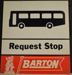Barton Transport original and unused - bus stop. Tow Truck, Trucks, Bus Coach, Bus Stop, Childhood Memories, Growing Up, Transportation, Nottingham, Coaches