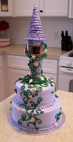 Tangled cake | Flickr - Photo Sharing!