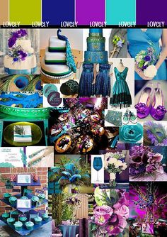 peacock colors for a wedding would be pretty!