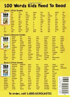 100 Words Kids Need To Read By 2nd Grade: Sight Word Practice to Build Strong Readers: Scholastic Inc.: 9780439399302: Amazon.com: Books