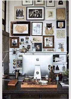 gallery spelndid office room. Eclectic Home Office Inspiration · Workspace Design Creative Studio Artist Desk Gallery Wall Spelndid Room