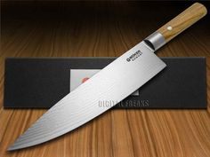 BOKER TREE BRAND Premium Kitchen Cutlery Damascus Olive Wood Chef's Knives Knife #ad