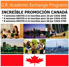 #Promocion Semanas #Gratis #Canada #Aprende #Inglés #Toronto #GRAcademic     www.intercambioestudiantil.com - info@intercambioestudiantil.com