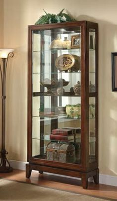 Exceptionnel Coaster Curio Cabinets 6 Shelf Curio Cabinet With Mirrored Back And Can  Lighting   Coaster Fine Furniture
