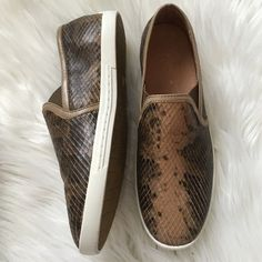 Joie kidmore sneaker Perfect slip on sneaker in a leather faux snake print. Gorgeous and completely sold out. Brand new(some store wear shown in photos). Offers welcome through offer tab. No trades. Joie Shoes Sneakers