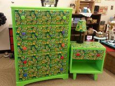 ninja turtle dresser, ninja turtle furniture, ninja turtle decor