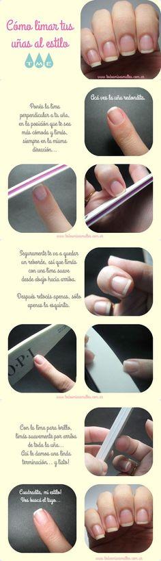 Cómo limar tus uñas