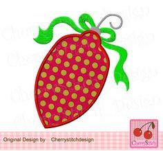 Christmas Ornament , Christmas Digital Applique CH0092-approximate 4x4 5x5 6x6 inch -Machine Embroidery Applique Design by CherryStitchDesign on Etsy