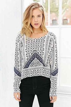 Anama Pieced Printed Top