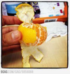 Ga ik ook proberen bij de volgende mandarijn die ik eet.