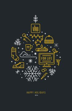 Happy Holidays 2014 by Luana Marchese #merry christmas #illustration #graphic design #digital art